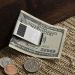 JDS Personalized Money Clip: Carbon Fiber