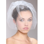 Mariell Handmade Tulle Birdcage Blusher Bridal Veil
