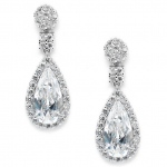 Mariell Victorian Teardrop Cubic Zirconia Wedding Or Prom Earrings