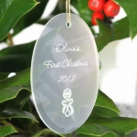 JDS Personalized Christmas Ornament: Oval