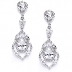 Mariell Best Selling Cubic Zirconia Dangle Wedding Or Prom Earrings