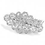 Mariell Dazzling Crystal Swirls Bridal Or Prom Hair Comb