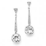 Mariell Vintage Wedding Or Bridesmaid 6 Ct. Cubic Zirconia Dangle Earring
