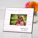 JDS Personalized Frame: Matron of Honor