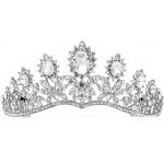 Mariell Royal Wedding Tiara with Dramatic Curve
