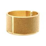 Mariell Deep Gold Sparkles Hinged Cuff Bracelet
