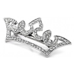 Mariell Pave Crystal Pageant Crown Barrette