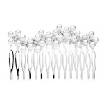 Mariell Elegant Pearl & Crystal Wedding Comb with Graceful Wave