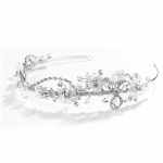 Mariell Crystal & Rhinestone Garden Wedding Tiara Or Side Design Headband