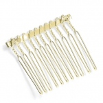 "Mariell Gold Comb Adapter for Brooches: 1 1/2"" Wide"