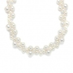 Mariell Crystal & Pearl Bubbles Bridal Necklace