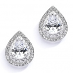 Mariell Designer Micro Pave Cubic Zirconia Bridal Or Mother of the Bride Earrings