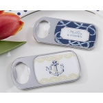 Personalized Bottle Opener with Epoxy Dome: Kate's Nautical Wedding Collection