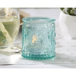 Vintage, Blue Glass Tealight Holder: Set of 4