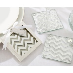 Shimmer and Shine, Silver Chevron Coasters