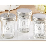 Personalized Mason Jar, The Hunt Is Over: Set of 12