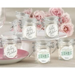 Personalized Glass Favor Jars, Kate's Rustic Wedding Collection: Set of 12