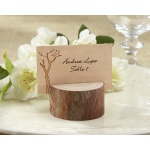 Rustic Real-Wood Place Card, Photo Holder: Set of 4