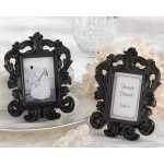 Black Baroque, Elegant Place Card Holder, Photo Frame