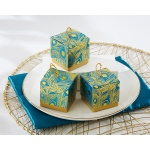 Feathers Foil Favor Boxes: Set of 24