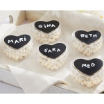 DIY Design Chalk Heart Labels & Heart Favor Holder: Set of 12