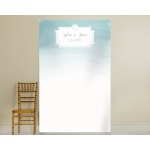 Personalized Photo Backdrop: Beach Aqua Watercolor