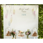 Personalized Photo Backdrop: Boho