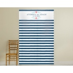 Personalized Photo Backdrop: Botanical Stripe