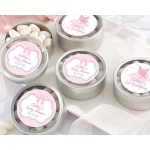 Personalized Silver Round Candy Tin, Tutu Cute: Set of 12