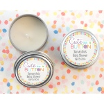 Cute as a Button, Personalized Travel Candle