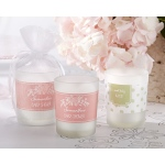 Personalized Frosted Glass Votive, Kate's Rustic Baby Shower Collection