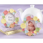 Cute as a Button, Round Photo Frame