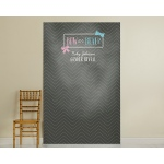 Kate's, Bow or Beau, Gender Reveal Personalized Photo Backdrop-Chalk