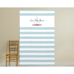 Personalized Photo Booth Backdrop, Kate's Nautical Baby Collection: Blue & White Stripe