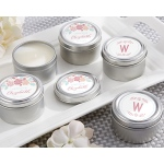 Personalized Travel Candle: Kate's Rustic Bridal Shower Collection
