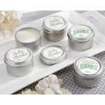 Personalized Travel Candle: Kate's Rustic Wedding Collection