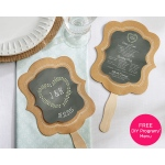Kraft Hand Fan: Set of 12