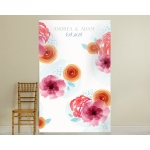 Personalized Photo Backdrop: Botanical Floral