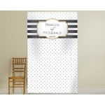 Personalized Photo Backdrop: Classic Bold Stripe