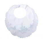 "Lillian Rose Baby Bib: 8.5"" x 9"", Blue"