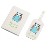 Lillian Rose Blue Owl Tag & Passport