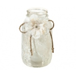 Lillian Rose Set of 4 Large Lace Jar Covers