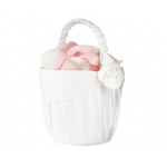 Lillian Rose Cream Rose Flower Basket