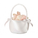 Lillian Rose Satin Flower Basket - Off White