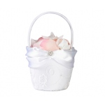 Lillian Rose White Lace Flower Basket