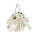 Lillian Rose Large Satin Basket - Ivory