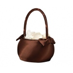 Lillian Rose Brown Satin Wedding Basket