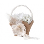 Lillian Rose Burlap & Lace Flower Basket