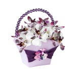 Lillian Rose Radiant Flower Basket
