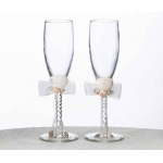 Lillian Rose Seaside Ivory Toasting Glass
